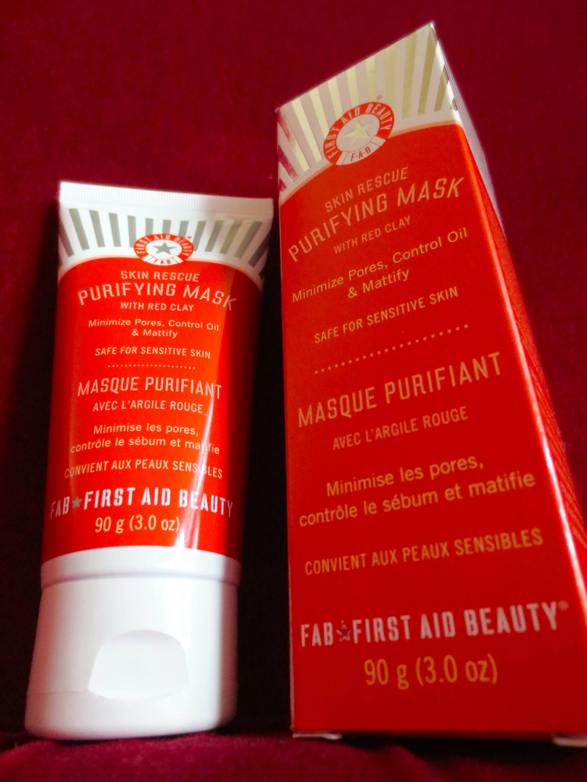 FAB skin rescue purifying mask with red clay