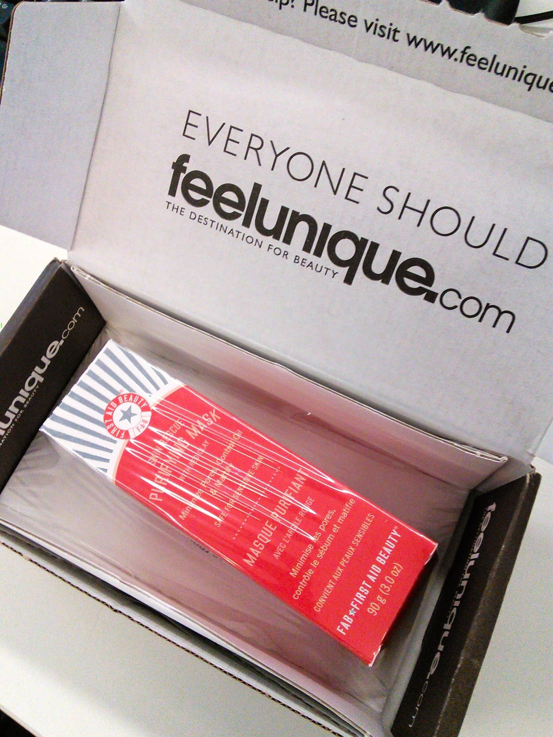 love opening feelunique's box of goodies