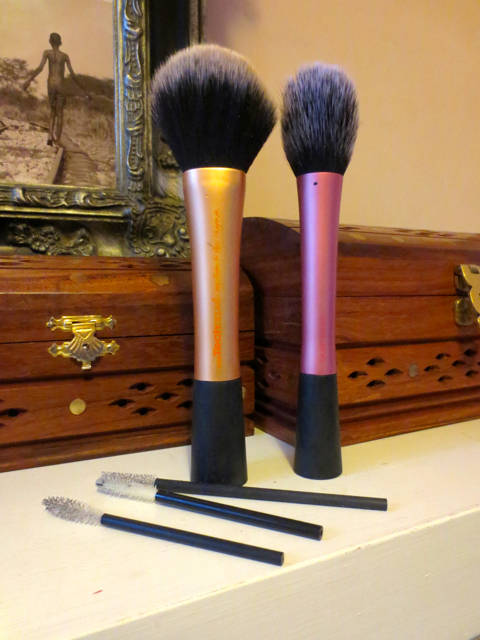 My real techniques brushes, standing to attention whilst drying