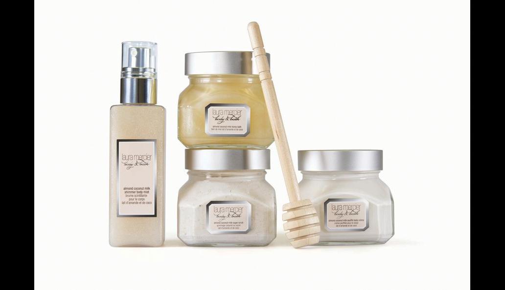 Laura Mercier body & bath luxe quartet almond coconut milk