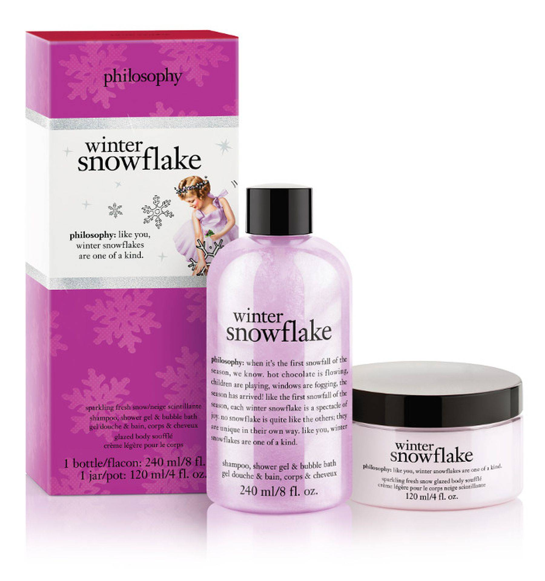 Philosophy winter snowflake duo