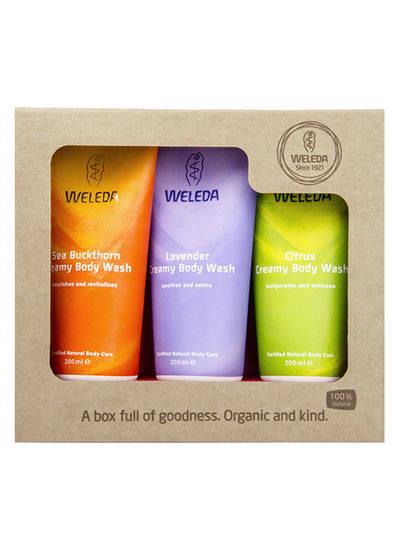 Weleda body wash gift set