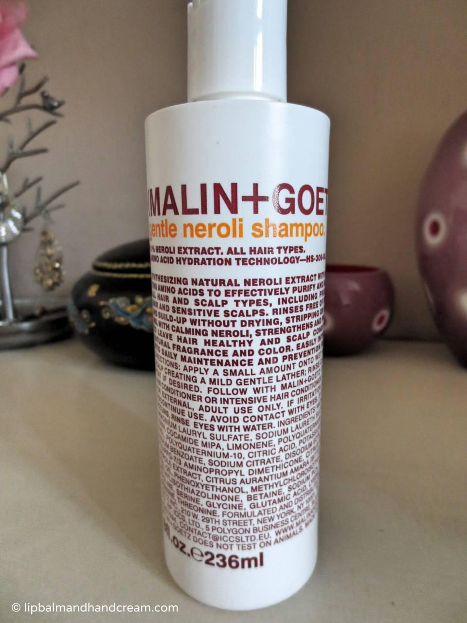 Malin + Goetz gentle neroli shampoo