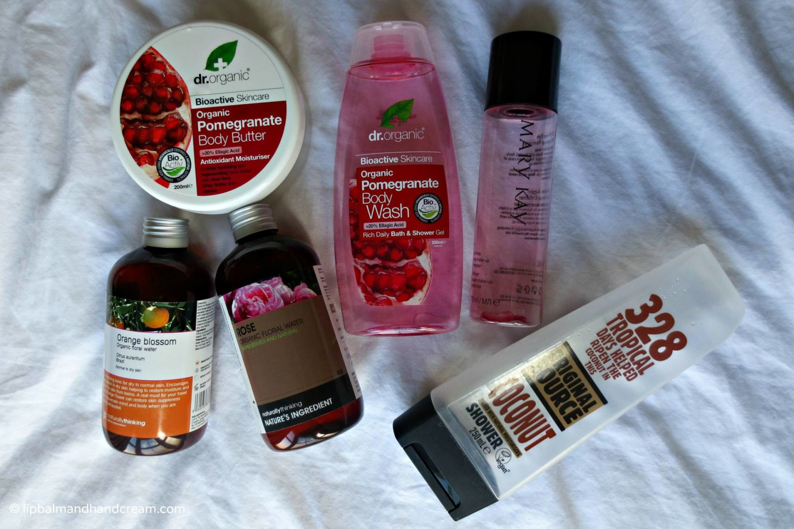 July's empties from Dr Organic, Mary Kay, Original Source and Naturally Thinking