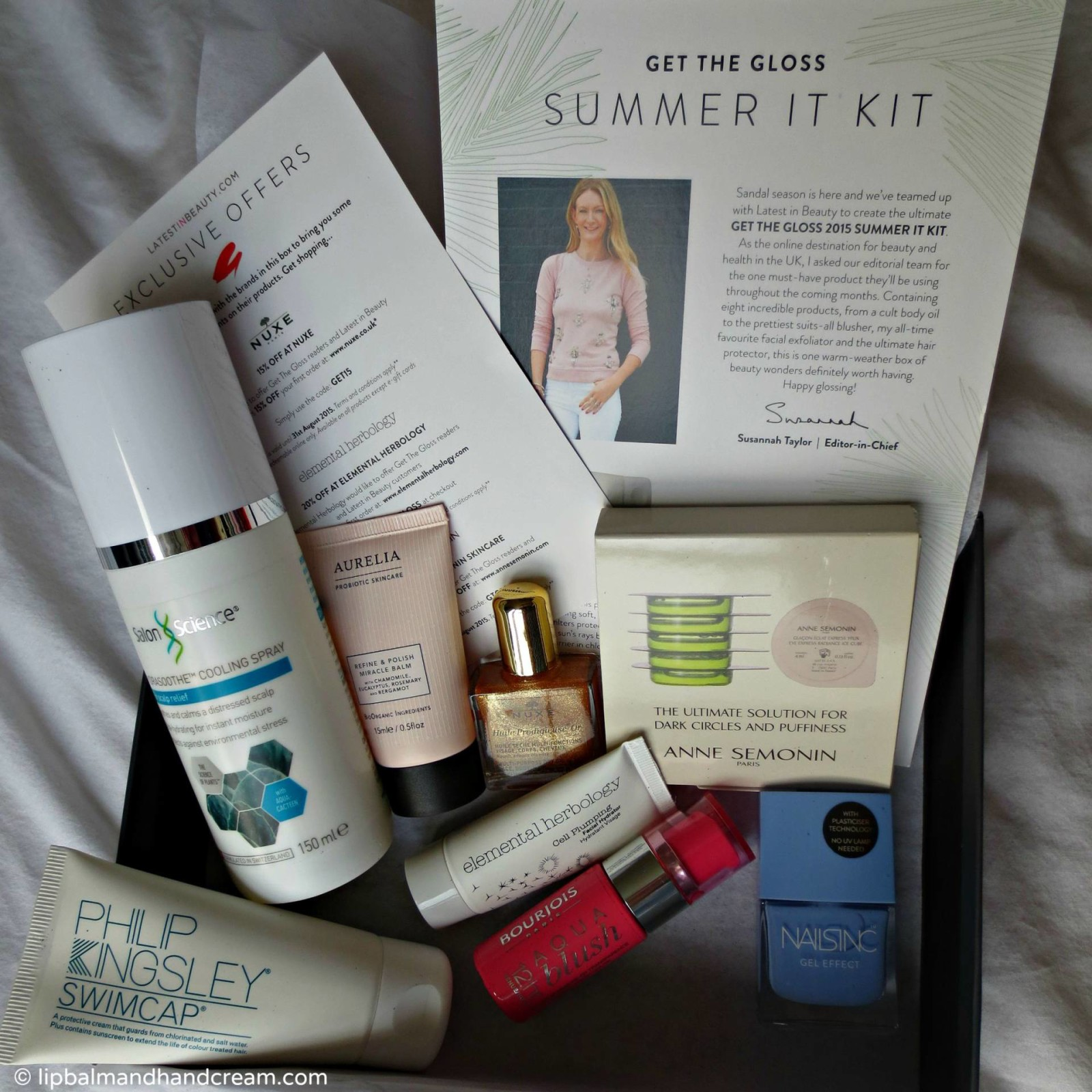 Get the gloss's summer kit beauty box from Latest in Beauty