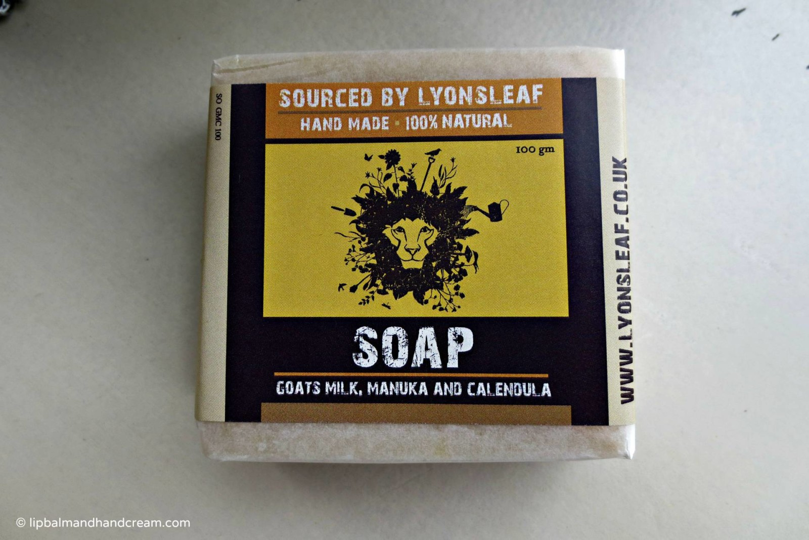 Lyonsleaf goats milk, manuka honey & calendula soap* – sample sent to me by the brand