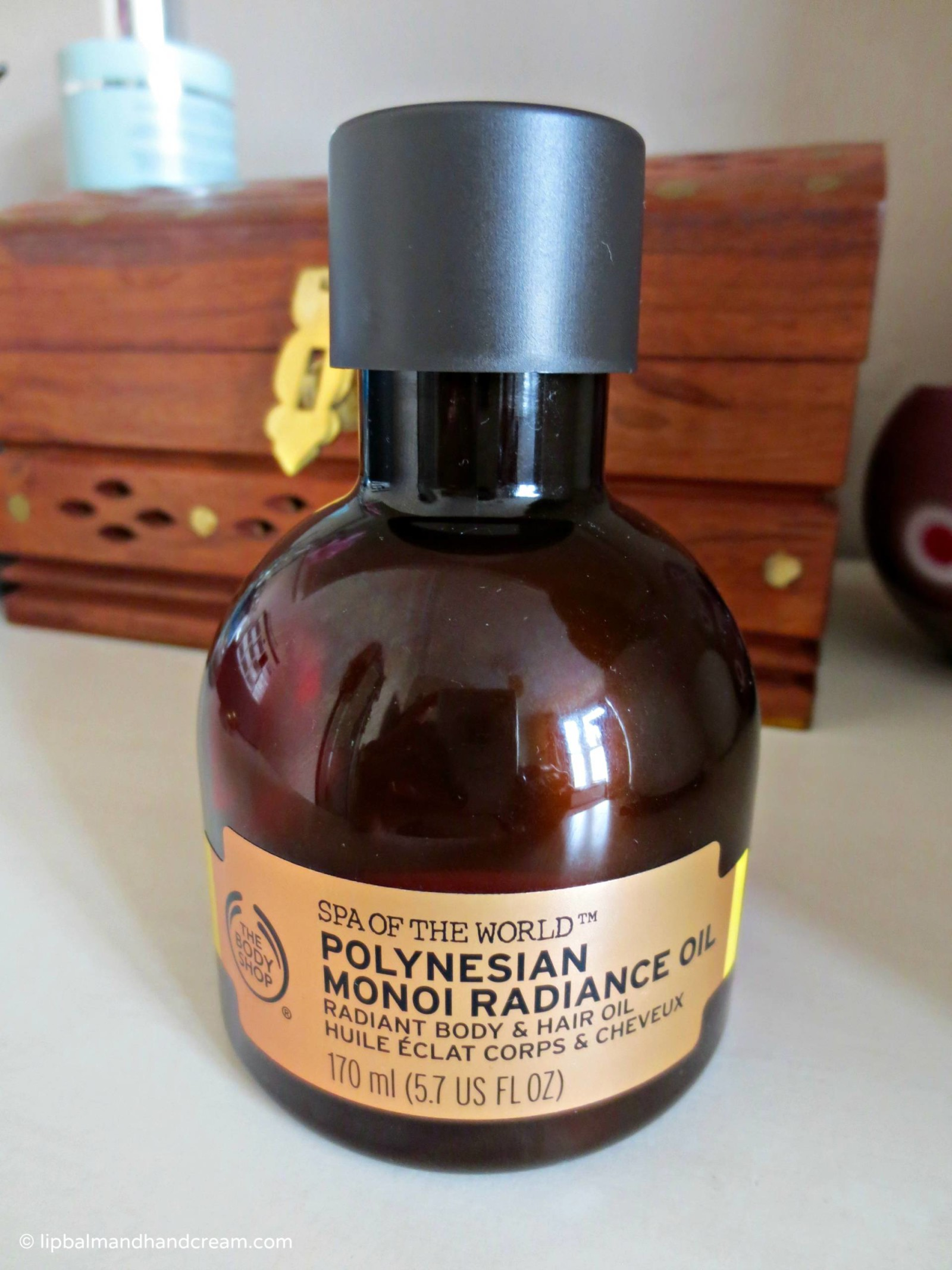 French Polynesia in London, with Body Shop's monoi radiance oil
