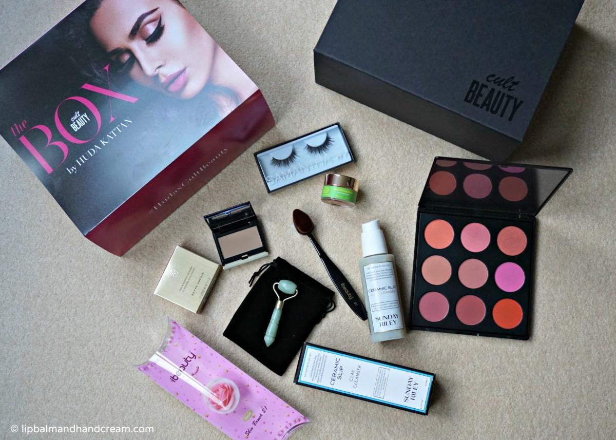 Huda beauty box from Cult Beauty