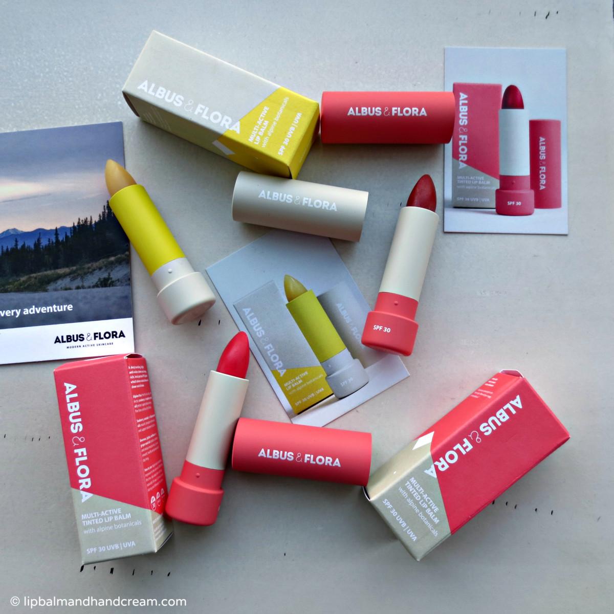 A new discovery in lip balms! Albus & Flora multi-active lip balms