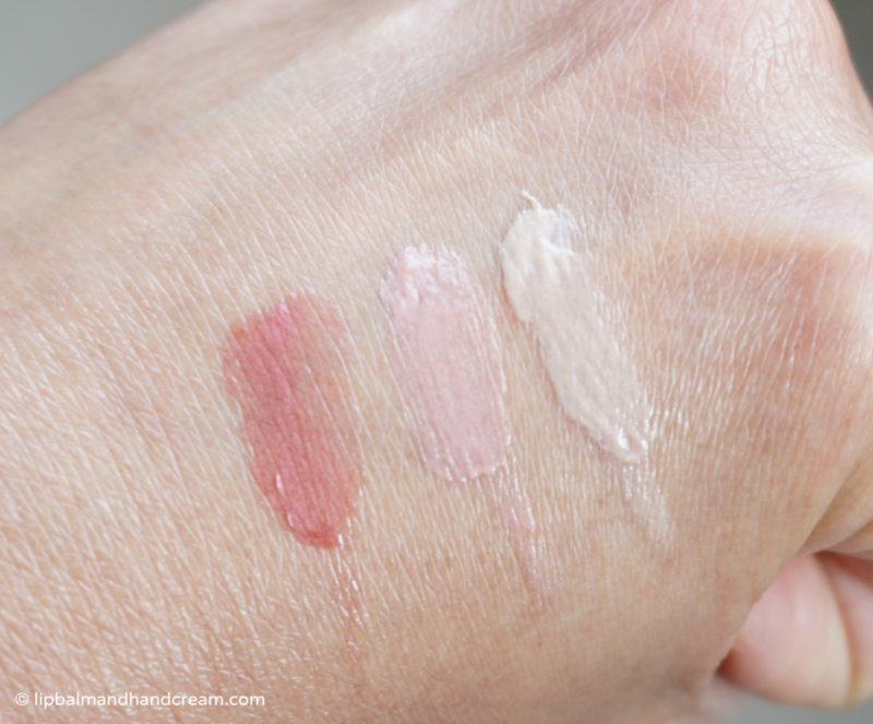 Weleda lip balms swatches